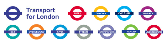 London transport branding